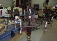 Wrought Iron Chandelier 2