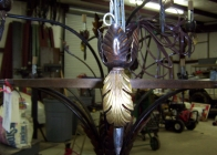 Wrought Iron Chandelier 3
