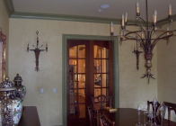 Iron Chandelier w Matching Sconce 3