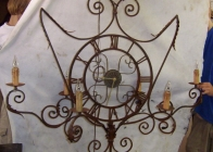 Iron Clock Sconce 1