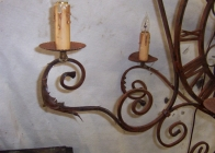 Iron Clock Sconce 2
