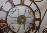 Iron Clock Sconce 3